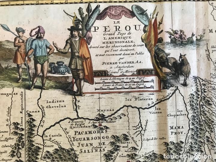 Arte: Mapa del litoral de Ecuador, Perú y Chile (América del sur), 1720. P. van der Aa/Covens y Mortier - Foto 9 - 174626279