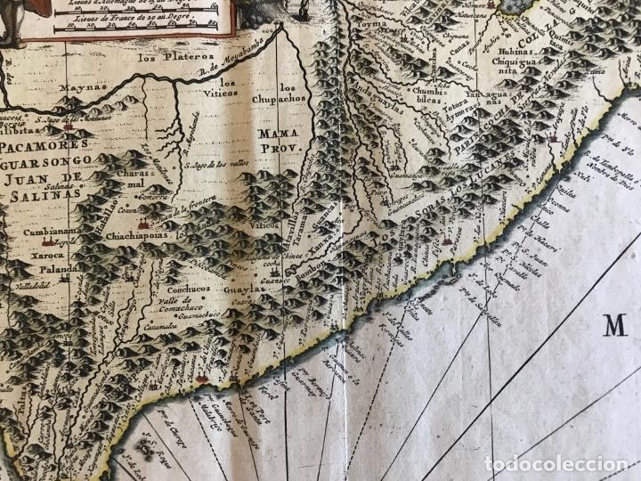 Arte: Mapa del litoral de Ecuador, Perú y Chile (América del sur), 1720. P. van der Aa/Covens y Mortier - Foto 11 - 174626279