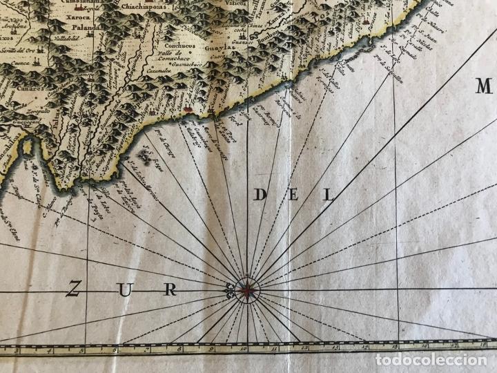 Arte: Mapa del litoral de Ecuador, Perú y Chile (América del sur), 1720. P. van der Aa/Covens y Mortier - Foto 13 - 174626279