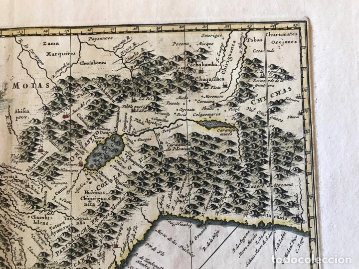 Arte: Mapa del litoral de Ecuador, Perú y Chile (América del sur), 1720. P. van der Aa/Covens y Mortier - Foto 15 - 174626279