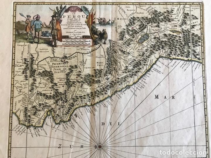 Arte: Mapa del litoral de Ecuador, Perú y Chile (América del sur), 1720. P. van der Aa/Covens y Mortier - Foto 16 - 174626279