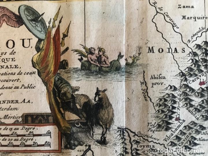 Arte: Mapa del litoral de Ecuador, Perú y Chile (América del sur), 1720. P. van der Aa/Covens y Mortier - Foto 17 - 174626279