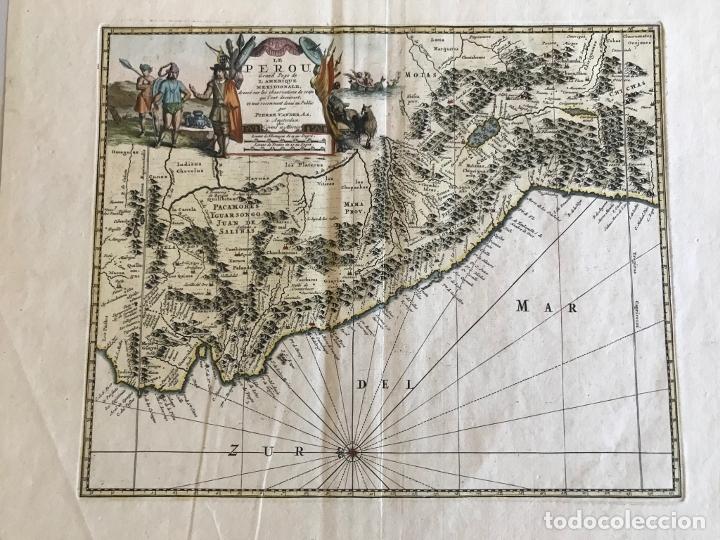 MAPA DEL LITORAL DE ECUADOR, PERÚ Y CHILE (AMÉRICA DEL SUR), 1720. P. VAN DER AA/COVENS Y MORTIER (Arte - Cartografía Antigua (hasta S. XIX))