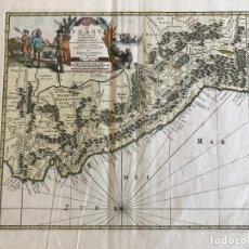 Arte: MAPA DEL LITORAL DE ECUADOR, PERÚ Y CHILE (AMÉRICA DEL SUR), 1720. P. VAN DER AA/COVENS Y MORTIER. Lote 174626279