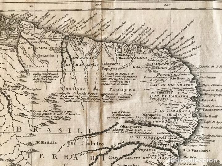 Arte: Gran mapa de Brasil, 1740. Delisle/Albrizzi - Foto 7 - 174668582