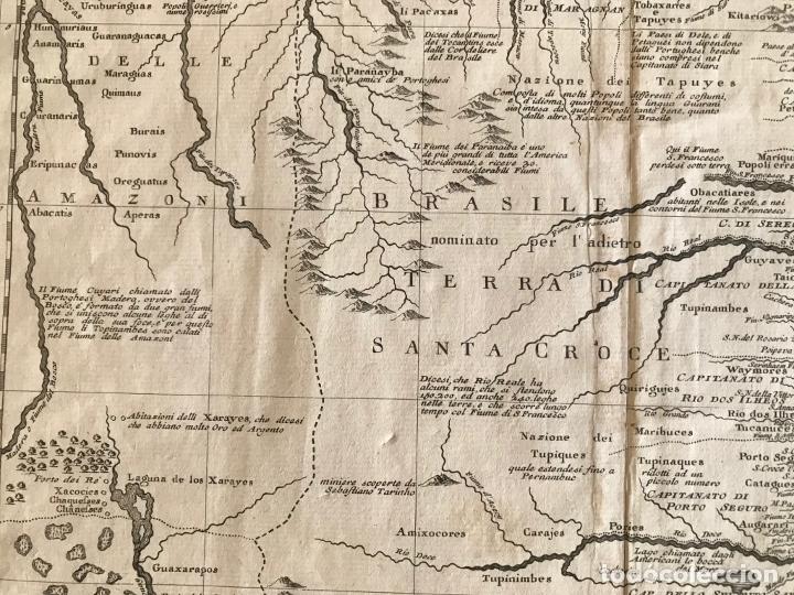 Arte: Gran mapa de Brasil, 1740. Delisle/Albrizzi - Foto 11 - 174668582