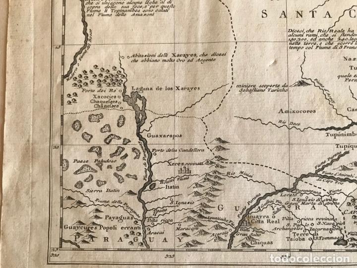 Arte: Gran mapa de Brasil, 1740. Delisle/Albrizzi - Foto 13 - 174668582