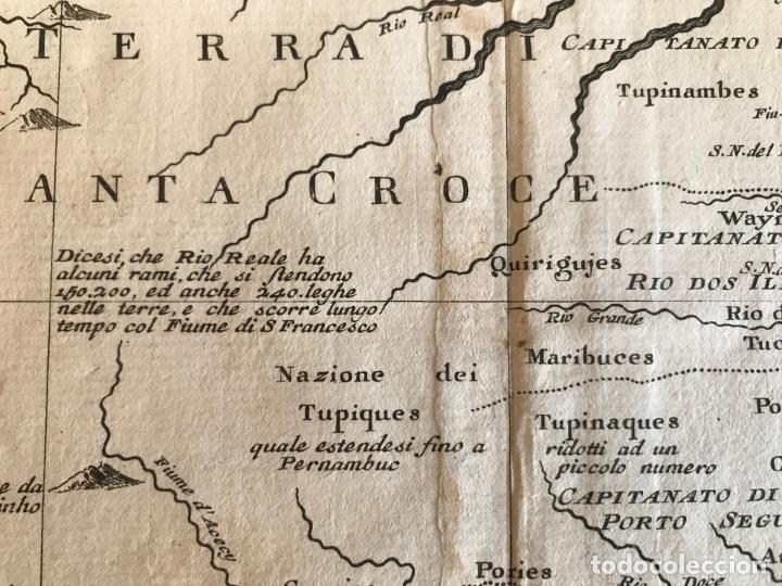 Arte: Gran mapa de Brasil, 1740. Delisle/Albrizzi - Foto 17 - 174668582