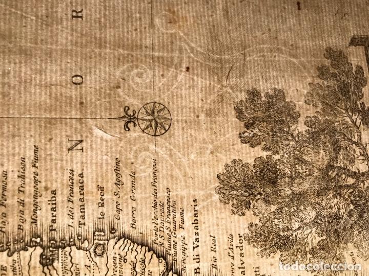 Arte: Gran mapa de Brasil, 1740. Delisle/Albrizzi - Foto 19 - 174668582