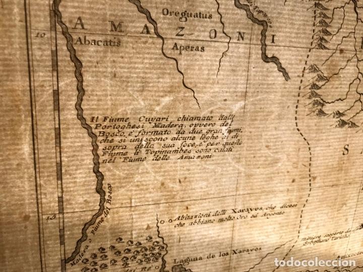 Arte: Gran mapa de Brasil, 1740. Delisle/Albrizzi - Foto 20 - 174668582