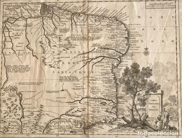 GRAN MAPA DE BRASIL, 1740. DELISLE/ALBRIZZI (Arte - Cartografía Antigua (hasta S. XIX))