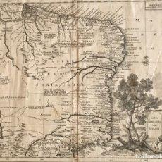 Arte: GRAN MAPA DE BRASIL, 1740. DELISLE/ALBRIZZI. Lote 174668582
