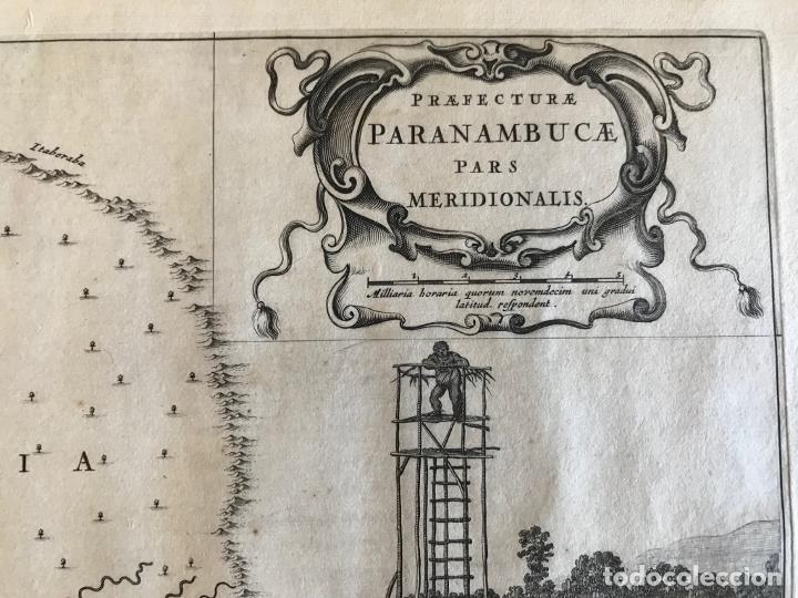 Arte: Gran mapa del noreste del Brasil holandés ( Alagoas, Brasil), 1647. Baerleus/Blaeu - Foto 6 - 175319315