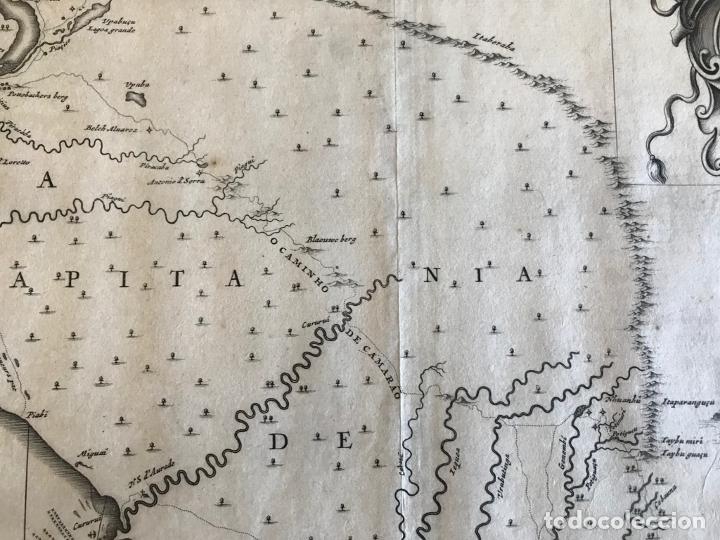 Arte: Gran mapa del noreste del Brasil holandés ( Alagoas, Brasil), 1647. Baerleus/Blaeu - Foto 8 - 175319315
