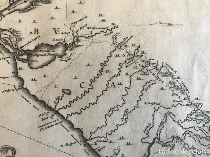 Arte: Gran mapa del noreste del Brasil holandés ( Alagoas, Brasil), 1647. Baerleus/Blaeu - Foto 11 - 175319315