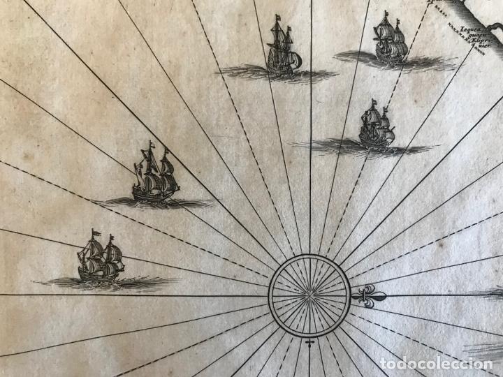 Arte: Gran mapa del noreste del Brasil holandés ( Alagoas, Brasil), 1647. Baerleus/Blaeu - Foto 13 - 175319315