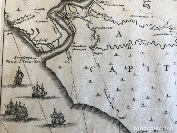 Arte: Gran mapa del noreste del Brasil holandés ( Alagoas, Brasil), 1647. Baerleus/Blaeu - Foto 14 - 175319315