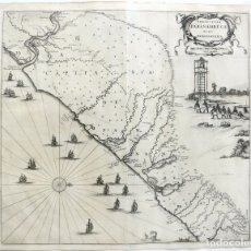 Arte: GRAN MAPA DEL NORESTE DEL BRASIL HOLANDÉS ( ALAGOAS, BRASIL), 1647. BAERLEUS/BLAEU. Lote 175319315