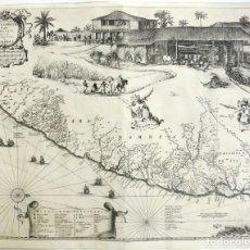 Arte: GRAN MAPA DEL NORESTE DEL BRASIL HOLANDÉS (ALAGOAS- PERNAMBUCO, BRASIL), 1647. BAERLEUS/BLAEU. Lote 175322850