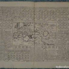 Arte: GRAN MAPA DEL IMPERIO ROMANO Y LA GENEALOGÍA DE SU EMPERADORES,.. , 1708. CHATELAIN / GUEDEVILLE. Lote 175585124