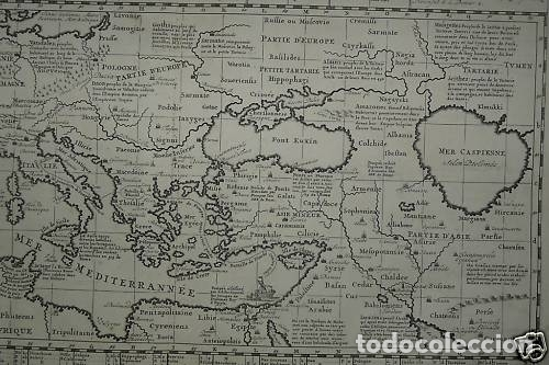 Arte: Gran mapa del imperio romano y del Mar Mediterráneo, 1719. Chatelain/Guedeville - Foto 4 - 175587442