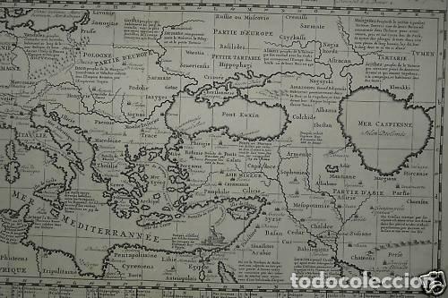 Arte: Gran mapa del imperio romano y del Mar Mediterráneo, 1719. Chatelain/Guedeville - Foto 5 - 175587442