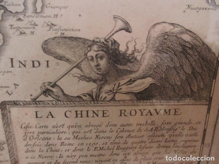 """Arte: """"La Chine royaume"""", Mapa de China y de Corea del siglo XVII. Impreso en París en 1656 Nicolas Sanson - Foto 14 - 175797640"""