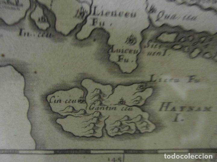 """Arte: """"La Chine royaume"""", Mapa de China y de Corea del siglo XVII. Impreso en París en 1656 Nicolas Sanson - Foto 18 - 175797640"""