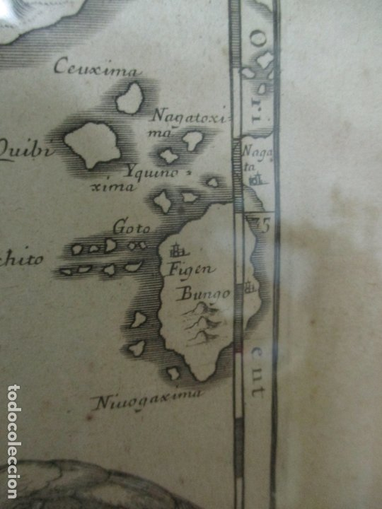 """Arte: """"La Chine royaume"""", Mapa de China y de Corea del siglo XVII. Impreso en París en 1656 Nicolas Sanson - Foto 21 - 175797640"""
