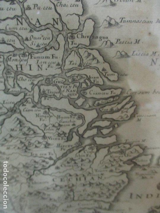 """Arte: """"La Chine royaume"""", Mapa de China y de Corea del siglo XVII. Impreso en París en 1656 Nicolas Sanson - Foto 22 - 175797640"""
