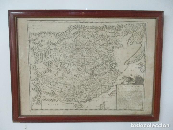 """Arte: """"La Chine royaume"""", Mapa de China y de Corea del siglo XVII. Impreso en París en 1656 Nicolas Sanson - Foto 23 - 175797640"""
