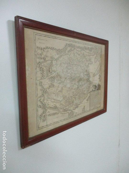 """Arte: """"La Chine royaume"""", Mapa de China y de Corea del siglo XVII. Impreso en París en 1656 Nicolas Sanson - Foto 26 - 175797640"""