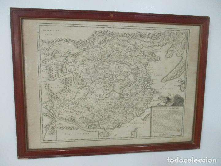 """Arte: """"La Chine royaume"""", Mapa de China y de Corea del siglo XVII. Impreso en París en 1656 Nicolas Sanson - Foto 28 - 175797640"""