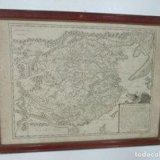 """Arte: """"LA CHINE ROYAUME"""", MAPA DE CHINA Y DE COREA DEL SIGLO XVII. IMPRESO EN PARÍS EN 1656 NICOLAS SANSON. Lote 175797640"""