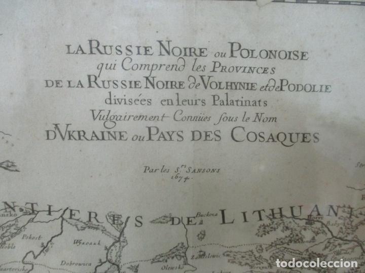 """Arte: """"La Russie Noire ou Polonaise: d'Ukraine ou Pays de Cosaques"""" - Sansons, París 1674 - Foto 6 - 175798350"""