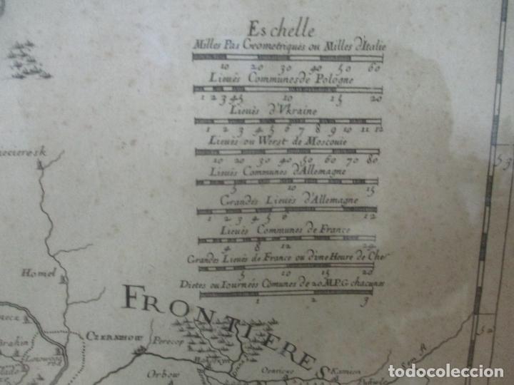 """Arte: """"La Russie Noire ou Polonaise: d'Ukraine ou Pays de Cosaques"""" - Sansons, París 1674 - Foto 7 - 175798350"""