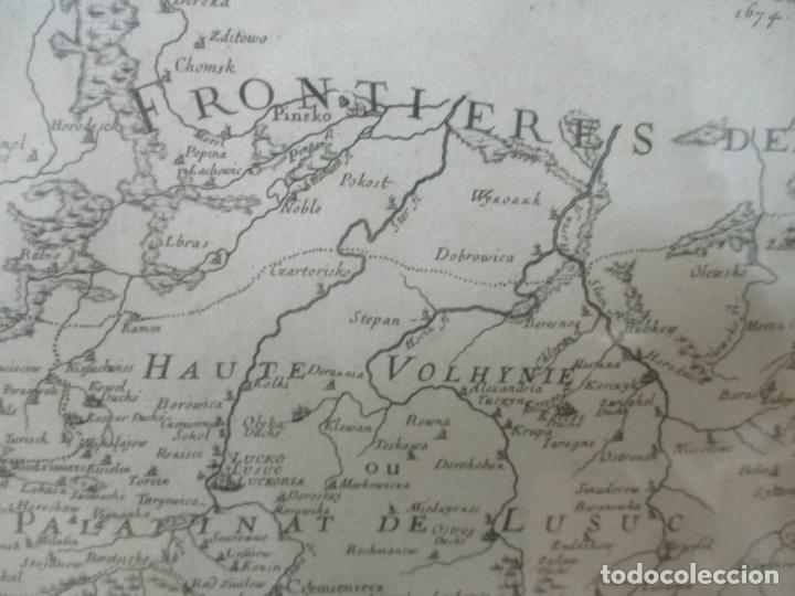 """Arte: """"La Russie Noire ou Polonaise: d'Ukraine ou Pays de Cosaques"""" - Sansons, París 1674 - Foto 9 - 175798350"""