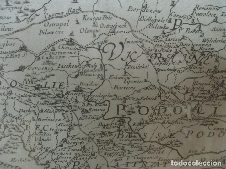 """Arte: """"La Russie Noire ou Polonaise: d'Ukraine ou Pays de Cosaques"""" - Sansons, París 1674 - Foto 13 - 175798350"""