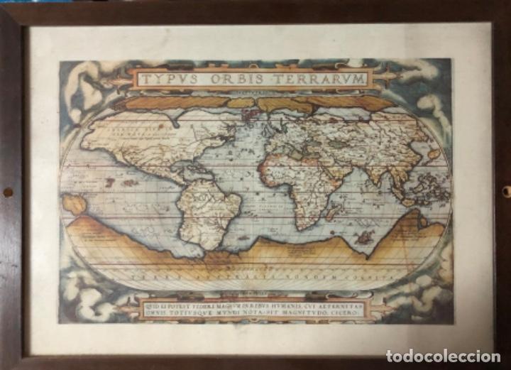 ANTIGÜO MAPA ENMARCADO (Arte - Cartografía Antigua (hasta S. XIX))