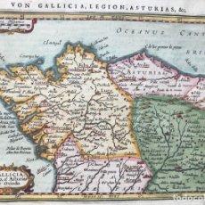 Arte: GALICIA, ASTURIAS Y LEÓN (ESPAÑA) Y NORTE DE PORTUGAL, 1648. MERCATOR/HONDIUS/JANSONIUS. Lote 176814157