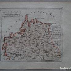 Arte: MAPA DE A CORUÑA Y LUGO (NORTE DE GALICIA, ESPAÑA), HACIA 1795. J. REILLY. Lote 176823459