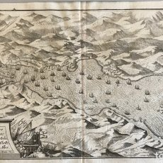 Arte: BATALLA NAVAL DE RANDE (VIGO, GALICIA, ESPAÑA), HACIA 1717. M. MERIAN. Lote 176831399