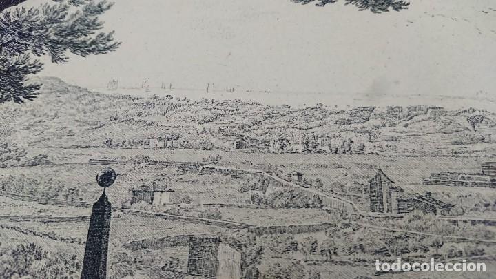 Arte: ANTIGUO GRABADO CARTOGRAFIA CIUDAD Y PUERTO DE TOULON SELLADA POR EL MUSEO LOUVRE - Foto 8 - 177117010