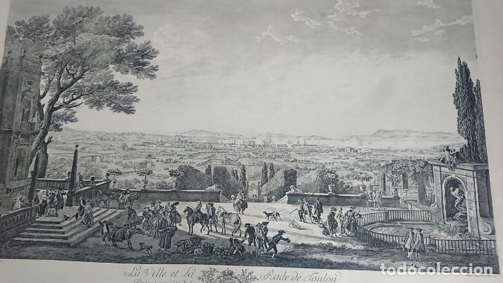 ANTIGUO GRABADO CARTOGRAFIA CIUDAD Y PUERTO DE TOULON SELLADA POR EL MUSEO LOUVRE (Arte - Cartografía Antigua (hasta S. XIX))