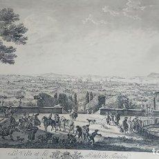 Arte: ANTIGUO GRABADO CARTOGRAFIA CIUDAD Y PUERTO DE TOULON SELLADA POR EL MUSEO LOUVRE. Lote 177117010
