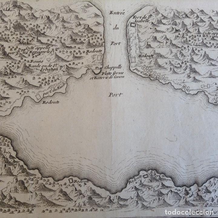 "Arte: ""Plan du port du passage Espagne"" Fontarabie San Sebastian mapa HONDARRIBIA FUENTERRABIA pais vasco - Foto 2 - 177484333"