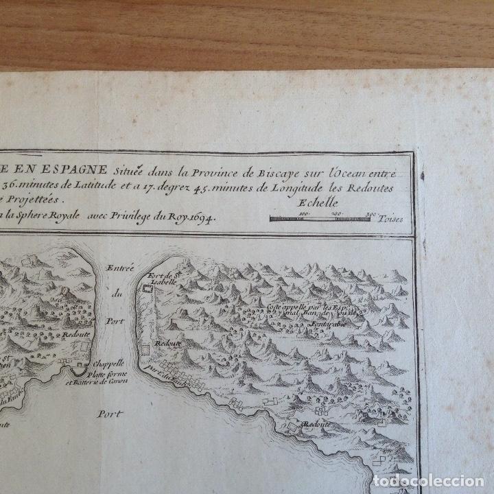 "Arte: ""Plan du port du passage Espagne"" Fontarabie San Sebastian mapa HONDARRIBIA FUENTERRABIA pais vasco - Foto 4 - 177484333"