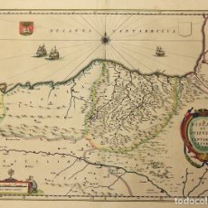 Arte: MAPA BISCAIA ET GUIPUSCOA CANTABRIAE VETERIS PARS. MAPA BIZKAIA Y GIPUZKOA. 1663. Lote 177795294