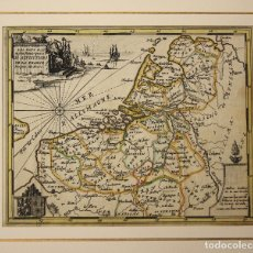 Arte: MAPA LES PAYS BAS. PAISES BAJOS. SIGLO XVIII. Lote 178029598