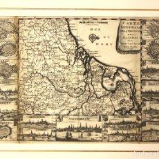 Arte: MAPA CARTE GENERALE DES 17 PROVINCES DES PAIS BAS. PAISES BAJOS. SIGLO XVIII. Lote 178029988
